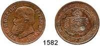 AUSLÄNDISCHE MÜNZEN,Brasilien L O T S     L O T S     L O T S 2000 Reis 1888 (Rdf.); 20 Cruzeiros 1972 und Pedro II., Kupfermedaille 1889 Auf seine Abdankung.  28 mm.  LOT 3 Stück.