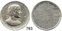 M E D A I L L E N,Personen  Zinnmedaille 1702 (Christian Wermuth) Gelegenheitsmedaille aus Zinn auf den römischen Kaiser Konstantin II. (316-340).  33 mm.  10,61 g.