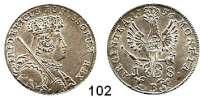 Deutsche Münzen und Medaillen,Preußen, Königreich Friedrich II. der Große 1740 - 1786 18 Kreuzer 1756 B, Breslau.  5,93 g.  Kluge 294.2.   v.S. 1464.  Olding 294.