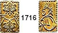 AUSLÄNDISCHE MÜNZEN,Japan Mutsuhito (Meiji) 1867 - 1912 2 Bu (Ni Bu) o.J. (1868/69).   3,02 g.  Schön 26.  Craig 21 d.  Fb. 22.  GOLD