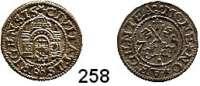 Deutsche Münzen und Medaillen,Riga, Stadt Freie Stadt 1562 - 1581 Schilling 1575.  1,02 g.  Kruggel/Baublyte 1575/6.6.3.