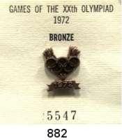 M E D A I L L E N,Olympiade München 1972 IOC-Siegernadel