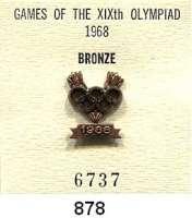M E D A I L L E N,Olympiade Mexiko 1968 IOC-Siegernadel