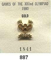 M E D A I L L E N,Olympiade Moskau 1980 IOC-Siegernadel