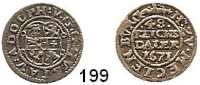 Deutsche Münzen und Medaillen,Mecklenburg - Güstrow Gustav Adolf 1636 - 1695 1/48 Taler 1671, Güstrow.  0,97 g.  Kunzel 526 Aa.