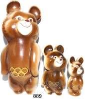 M E D A I L L E N,Olympiade Moskau 1980 Drei Keramikfiguren