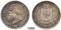 AUSLÄNDISCHE MÜNZEN,Brasilien Peter II. 1831 - 1889 2000 Reis 1888.  Schön 180.  KM 485.