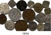 AUSLÄNDISCHE MÜNZEN,L  O  T  S     L  O  T  S     L  O  T  S  LOT von 17 Kleinmünzen.  Mittelalter bis 1904.