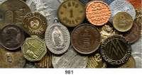 Notmünzen; Marken und Zeichen,0 L O T S     L O T S     L O T S LOT von 39 Medaillen, Marken und Zeichen.  ALT / NEU.  23 bis 50 mm Ø