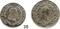 Österreich - Ungarn,Habsburg - Lothringen LOTS       LOTS       LOTS 10 Kreuzer 1793 A (schön) und 20 Kreuzer 1786 B (schön-ss).  LOT 2 Stück.