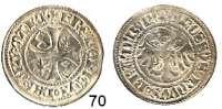 Deutsche Münzen und Medaillen,Brandenburg - Preußen Friedrich II. 1440 - 1470 Groschen o.J., Brandenburg.  2,39 g.  Bahrfeldt 28 a.
