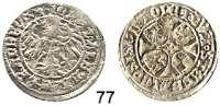 Deutsche Münzen und Medaillen,Brandenburg - Preußen Joachim I. gemeinsam mit Albrecht 1499 - 1513 Groschen 1511, Stendal.  1,95 g.  Bahrfeldt 207.