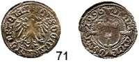 Deutsche Münzen und Medaillen,Brandenburg - Preußen Johann Cicero 1486 - 1499 Halbgroschen 1496, Frankfurt an der Oder.  1,05, g.  Bahrfeldt 64.