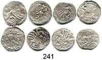 Deutsche Münzen und Medaillen,Pommern LOTS       LOTS       LOTS Vierchen.  LOT 8 Stück.