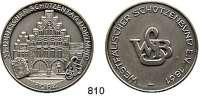 M E D A I L L E N,Schützen Dortmund Silbermedaille 1984 (800).  33. Deutscher Schützentag.  Westfälischer Schützenbund.  38,5 mm.  22,96 g.