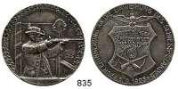 M E D A I L L E N,Schützen Hörde (Dortmund) Versilberte Bronzemedaille 1925.  Schießstand-Einweihung der Bürgerschützen-Gilde Graf von der Mark.  40,3 mm.  19,89 g.