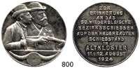 M E D A I L L E N,Schützen Altkloster (Buxtehude) Silbermedaille 1924 (990).  58. Niederelbisches Bezirksschießen auf dem neuerbauten Schießstand.  39,4 mm.  22,6 g.