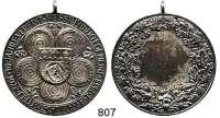 M E D A I L L E N,Schützen Celle Silbermedaille 1938 (Punze 800).  10 Jahre Vereinigung der Celler Schützengesellschaften.  40,5 mm.  22,89 g.  Mit Originalöse.