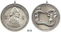 M E D A I L L E N,Schützen Ehrenbreitstein Versilberte Bronzemedaille 1960.  440jähriges Jubiläum der St. Sebastianus-Schützengesellschaft.  45,7 mm.  39,07 g.  Mit Öse.