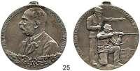 Österreich - Ungarn,Habsburg - Lothringen Franz Josef I. 1848 - 1916 Silbermedaille 1914.  (R. Neuberger).  1. Österreichische Jungschützenkonkurrenz und Kaiserhuldigung zu Wien.  42 mm.  34,2 g.  Mit Öriginalöse.