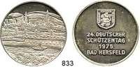 M E D A I L L E N,Schützen Bad Hersfeld Silbermedaille 1975 (800).  24. Deutscher Schützentag.  39 mm.  29,05 g.