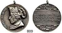 M E D A I L L E N,Schützen Cochem Versilberte Bronzemedaille 1934.  88. Stiftungsfest der Cochemer Schützengesellschaft.  34,5 mm.  15,16 g.  Mit Originalöse.