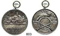 M E D A I L L E N,Schützen Böblingen Versilberte Bronzemedaille 1955.  475jähriges Jubiläum der Schützengesellschaft.  34,2 mm.  15,86 g.  Mit Öse.