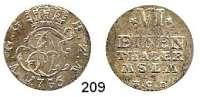 Deutsche Münzen und Medaillen,Mecklenburg - Strelitz Adolf Friedrich IV. 1752 - 1794 1/6 Taler 1756 HCB.  5,28 g.  Kunzel 590 E.  Schön 38.