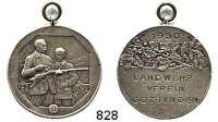 M E D A I L L E N,Schützen Göttingen Versilberte Bronzemedaille 1930.  Landwehrverein.  30,5 mm.  11,17 g.  Mit Öse.