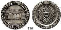M E D A I L L E N,Schützen Innsbruck Silbermedaille 1979 (925).  10. Österreichisches Bundesschießen - 100 Jahre Österreichischer Schützenbund.  40 mm.  26,38 g.