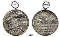 M E D A I L L E N,Schützen Plochingen Versilberte Medaille 1928.  Bahnschütz - Wettschießen.  Mit Öse.  34,2 mm.  16,86 g.