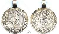 Deutsche Münzen und Medaillen,Braunschweig - Celle Friedrich 1636 - 1648 Taler 1638.  30 g.  Welter 1414.   Dav. 6494.  Mit alter Öse.