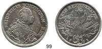 Deutsche Münzen und Medaillen,Preußen, Königreich Friedrich II. der Große 1740 - 1786 Taler 1751 B, Breslau.  21,94 g.  Kluge 61/142.  v.S. 182 a. Olding 28 b. Dav. 2583.
