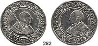Deutsche Münzen und Medaillen,Sachsen Johann Friedrich und Georg 1534 - 1539 Taler 1534, Annaberg.  28,85 g.   Keilitz 126.1.  Dav. 9719.