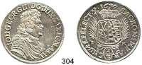 Deutsche Münzen und Medaillen,Sachsen Johann Georg III. 1680 - 1691 2/3 Taler 1690 IK, Dresden.  15,58 g.   Clauss/Kahnt 592.  Dav. 810.  Mb. 1265