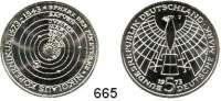 B U N D E S R E P U B L I K,Fehlprägungen und Verprägungen  5 Mark 1973 J.  Kopernikus.  Jaeger 411.  Fehlprägung :  Doppelte Randschrift (gegenläufig).  Äußerst selten.