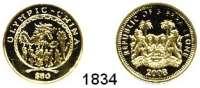 AUSLÄNDISCHE MÜNZEN,Sierra Leone  50 Dollars 2008.  (6,22g fein).  Olympische Spiele - Drachen.  Fb. 74.  GOLD