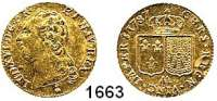 AUSLÄNDISCHE MÜNZEN,Frankreich Ludwig XVI. 1774 - 1793 Louis d`or 1787 AA, Metz.  7,63g.  KM 591.2.  Fb. 475.  GOLD