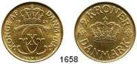 AUSLÄNDISCHE MÜNZEN,Dänemark Christian X. 1912 - 1947 2 Kronen 1926.  Sieg 3.1  Hede 20 A.  Schön 42.  KM 825.