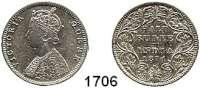 AUSLÄNDISCHE MÜNZEN,Indien Britisch Indien 1/2 Rupie 1874.  Kahnt/Schön 25.  KM 472.