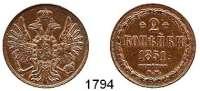 AUSLÄNDISCHE MÜNZEN,Russland Nikolaus I. 1825 - 1855 2 Kopeken 1851 BM, Warschau.  Bitkin 861.  Kahnt/Schön 64.  Cr. 150.3.