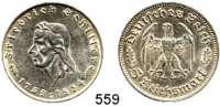 R E I C H S M Ü N Z E N,Drittes Reich  5 Reichsmark 1934 F.  Jaeger 359.  Schiller.
