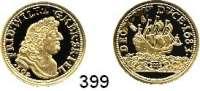 Deutsche Münzen und Medaillen,Nachprägungen von historischen Münzen  Preußen,  Goldnachprägung.  Guinea-Dukat 1683 (2003).  20 mm.  3,54 Gramm.