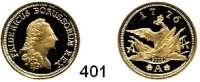 Deutsche Münzen und Medaillen,Nachprägungen von historischen Münzen  Preußen,  Goldnachprägung.  Friedrichs'or 1776 A (2003).  20 mm.  3,5 Gramm.