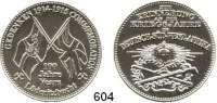 Besetzte Gebiete  -  Kolonien  -  Danzig,  Moderne Weißmetall Medaille.  Zur Erinnerung an die Kriegsjahre in Deutsch-Süd-West-Afrika.  100 Jahre Lüderitzbucht.  35 mm.  31,1 g.