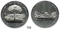 M E D A I L L E N,Städte Herrnhut Zinnmedaille mit Kupferstift 1822.  100 Jahrfeier der Herrnhuter Brüdergemeinde.  43,5 mm.  28,74 g.