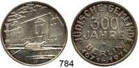 M E D A I L L E N,Städte Berlin Silbermedaille 1971.  300 Jahre Jüdische Gemeinde Berlin.  Gemeindehaus in der Berliner Fasanenstraße. / Text.  31,9 mm.  15,92 g.