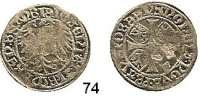 Deutsche Münzen und Medaillen,Brandenburg - Preußen Joachim I. gemeinsam mit Albrecht 1499 - 1513 Groschen o.J., Frankfurt an der Oder.  2,15 g.  Bahrfeldt 129.