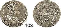 Deutsche Münzen und Medaillen,Preußen, Königreich Friedrich II. der Große 1740 - 1786 6 Kreuzer 1757 B, Breslau.  3,14 g.  Kluge 298.3.  v.S. 1484.  Olding 300.
