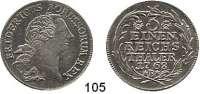 Deutsche Münzen und Medaillen,Preußen, Königreich Friedrich II. der Große 1740 - 1786 1/3 Taler 1768 B, Breslau.  8,25 g.  Kluge 144.3.  v.S. 544.  Olding 88.